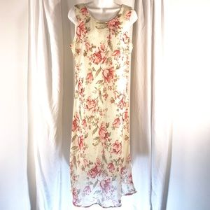 Gorgeous Floral Spring Easter Dress, size 16